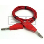 HCK Multi Contact Stacking 4mm Banana Plug Patch Cord 39in. Red MC Multi-Contact