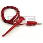 Pomona 3782-60-2 Minigrabber Hook Test Clip To Stacking Banana Plug 60in. Red