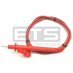 Summit 2mm Hardpoint Voltage Probe Red With A 4mm Angled Plug 1000-Volt CAT III