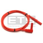 Test Lead Red 60in. PVC Insulated 4mm Banana Plug Angled To Straight