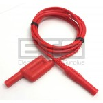 Test Lead Patch Cord Red 59 Inch 4mm Banana Plug With Stackable End