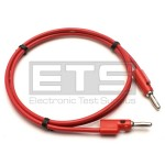 "Pomona 2948-B-36-2 Patch Cord 36"" Red Stackable 4mm Banana Plugs"