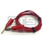 Pomona 1126-36-2 Multi Stacking Banana Plug To Stacking Pin Tip Plug 36in. Red