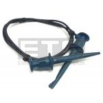 Pomona 3781-12-6 Minigrabber Patch Cord Hook Clips 12 Inch Blue
