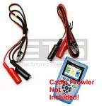 Platinum Tools Cable Prowler TCB360K1 RJ11 Plug To 2ft & 4ft Alligator Clip Sets