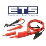 Fluke Scope Meter 190 VPS200-R Voltage Probe Set Red Straight BNC Plug VP200 VPS200 RS200