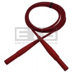 """HCK Multi-Contact Red 56"""" Test Lead Red w/ Straight 4mm Banana Plugs"""