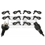 10pc Phino Australian Aussie AC Power Cord 3A 250V~ 3 Prong AS 3112 Plug To C5 Mickey Mouse Socket 6ft