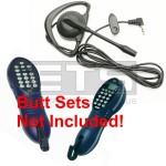 GreenLee Tempo Tele-Mate PE810 PE830 Butt Set Mini Hands Free Headset 4ft Cord 2.5mm Plug