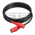 Fluke PM9092/001 50 OHM 1.5ft. Coaxial Cable With Red BNC Male Connectors