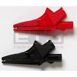 Pomona 6041B X-Large Red & Black Alligator Clip Set