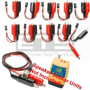Test-Um JDSU Speaker Seeker TP400 TP410 TP315 2 Wire Identifier Mapper ID Clip Set 1-10