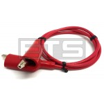 Pomona AL-B-24-2 Alligator Clip Patch Cord 24in. Red AL-B 6356