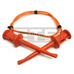Pomona 3781-12-3 Minigrabber Patch Cord Hook Clips 12 Inch Orange