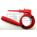 Fluke TL81A Modular Pinch-Style Clip Test Lead Red 12 Inch Cord 4mm Banana Plug