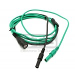AES Shrouded BNC Male To 4mm Shrouded Banana Plug Test Lead Cable Assembly 69""