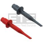Fluke STL120 TL75 HC120 Shielded Test Lead / Probe Hook Clip Adapter Clip Set