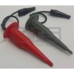 Fluke Phillips PM9094/001 Mini Test Hook Clip Set w/ Ground Lead Alligator Clips