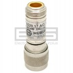 Huber + Suhner AG 6820-17-AC 20db DC -4GHz Type N Coax Attenuator Male To Female