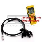 Klein Tools VDV Scout Pro LT RJ45 Plug To 8 Insulated Miniature Alligator Clip Set