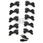 Lot Of 10 NEW Italian Power Cord (s) 3-Pin CEI 23-16 To IEC320 C5 1.5 Meters