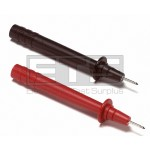 Pomona 6232A Test Lead 2mm Probe Adapter Tip Set Red & Black