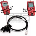 Platinum Tools VDV MapMaster T119c T129c RJ45 Plug To 8 Insulated Miniature Alligator Clip Set