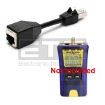 Test-Um JDSU Resi-Tester TP300 TP74 Sacrificial RJ45 Port Saver Dongle Cable