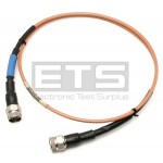 The WorkHorse WHU18-1818-048 MFR 640230312 Spirent-C1 Type N Male Coax Cable
