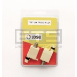 2 Pack Of Test-Um JDSU TP50 RJ45 Plug To F Coax Jack Adapter Connector
